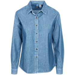 LSP10 Port Authority Women's LS Denim Shirt