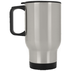 Silver Stainless Travel Mug
