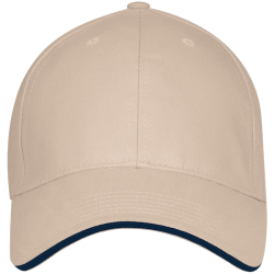 Bayside USA Made Structured Twill Cap With Sandwich Visor