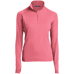 Sport-Tek Womens 1/2 Zip Performance Pullover