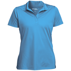 Sport-Tek Womens Micropique Tag-Free Flat-Knit Collar Polo