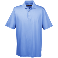Harriton Mens Snap Placket Performance Polo