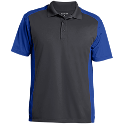 Sport-Tek Mens Colorblock Sport-Wick Polo