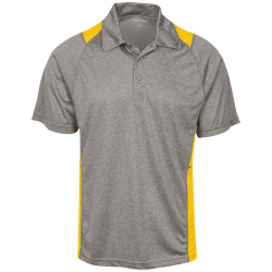 Sport-Tek Mens Heather Moisture Wicking Polo