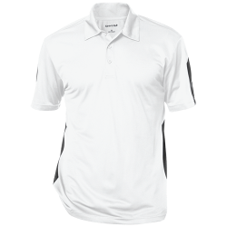 Sport-Tek Mens Performance Textured Three-Button Polo