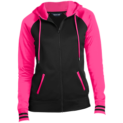 Sport-Tek Ladies Sport-Wick® Full-Zip Hooded Jacket