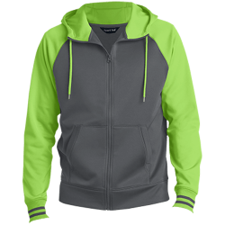 Sport-Tek Mens Sport-Wick® Full-Zip Hooded Jacket