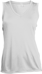 Sport-Tek Ladies' Sleeveless Moisture Absorbing V-Neck