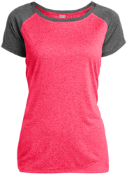 Sport-Tek Ladies Heather on Heather Performance T-Shirt